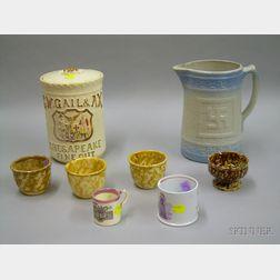 Eight Assorted Ceramic Articles