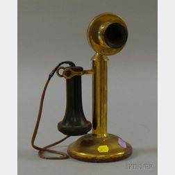 Western Electric Brass Candlestick Telephone.