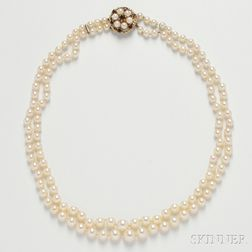 Cultured Pearl Double-strand Necklace