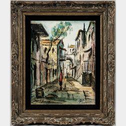 Zvi Raphaeli (Israeli, 1924-2005)      Street in Safed