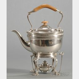 George V Silver Kettle on Stand