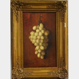 Henry Hammond Ahl (American, 1869-1953)      Still Life with Green Grapes.