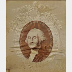 Washington, George (1732-1799) Woven Jacquard Silk Portrait.