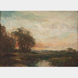 Fernando A. Carter (American, 1855-1931)    Tonalist Sunset Landscape