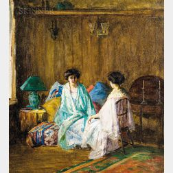 School of William Merritt Chase (American, 1849-1916)    Two Women in Japanese Dress