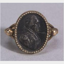 Early George Washington Memento Mori Gold  Ring