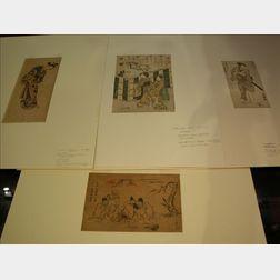 Nine Japanese Prints