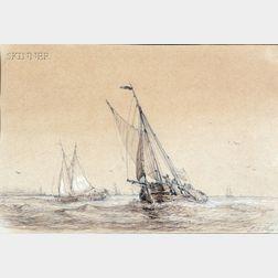 Paul Jean Clays (Belgian, 1819-1900)      Headed Home