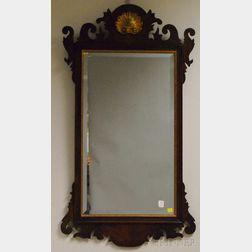 Henkel-Harris Virginia Galleries Chippendale-style Partial-gilt Mahogany Mirror
