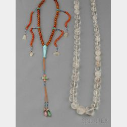 Two Gemstone Necklaces