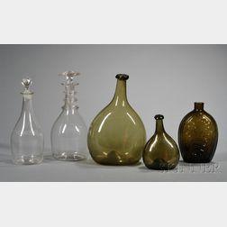 Five Blown Glass Items