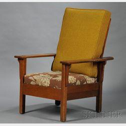 Arts & Crafts Oak Open Arm Morris Chair