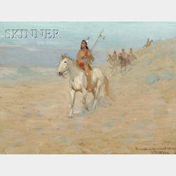 Edwin Willard Deming  (American, 1860-1942)      View of Native Americans on Horseback