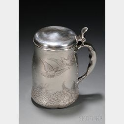 Whiting Manufacturing Co. Sterling Acid Etched Trophy Tankard