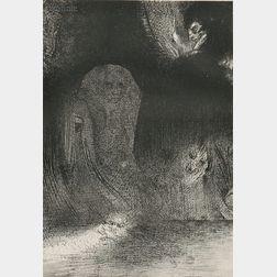 Odilon Redon (French, 1840-1916)      J'ai quelquefois aperçu dans la ciel comme des formes d'esprits