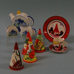 Ten Boxed Centenary Wedgwood Clarice Cliff Items