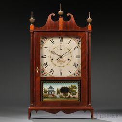 Seth Thomas Off-Center Pillar and Scroll Shelf Clock
