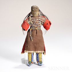 Plains Beaded Hide and Cloth Doll