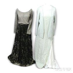 Two Green Designer Dresses