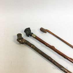 Three Folk Art Canes