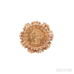 14kt Gold Coin Ring