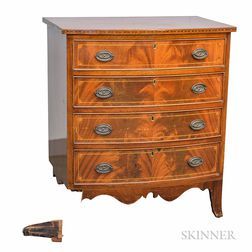 Small Georgian-style Inlaid Mahogany Chest of Drawers
