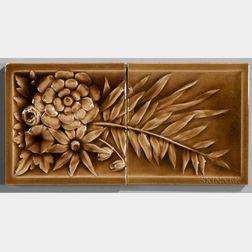 Two American Encaustic Tile Co. Art Pottery Tiles