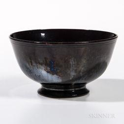 Mirror Black-glazed Bowl