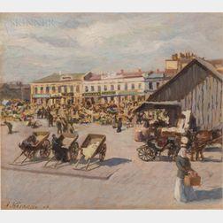 Eastern European School, 20th Century      Market Square