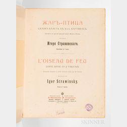 Stravinsky, Igor (1882-1971) L'Oiseau de Feu.