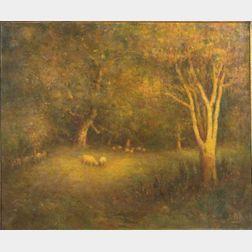Henry Hammond Ahl (American, 1869-1953)    Lingering Light