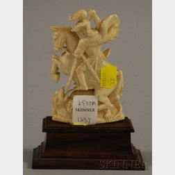 Ivory Carving of St. George and the Dragon