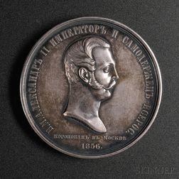 Alexander II Silver Coronation Medal