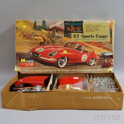 Monogram Red Jaguar xk-e GT Sports Coupe Model and Box.     Estimate $100-200