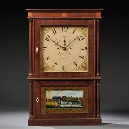 Heman Clark Mahogany Shelf Clock