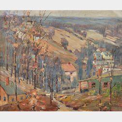 Peter Bela Mayer (American, 1887-1993)    New Jersey Hills in Autumn