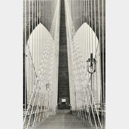 Alfred Eisenstaedt (American, 1898-1995)      Brooklyn Bridge #9