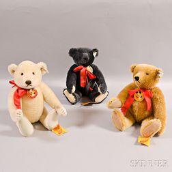 Three Steiff Limited Edition Annual Teddy Bear Convention Mohair Teddy Bears