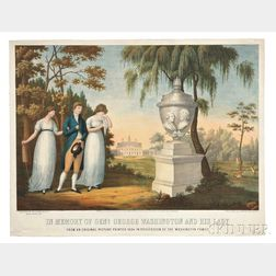 Washington, George (1732-1799) In Memory of Genl. George Washington and his Lady, Chromolithograph.