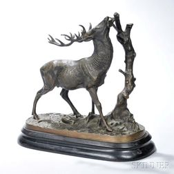 After Pierre-Jules Mêne (French, 1810-1879)       Bronze Figure of a Deer