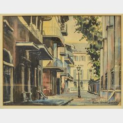 Richard Hoffman (American, d. 1965)      New Orleans Side Street