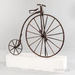 "Iron and Wood Highwheel ""Bonecrusher"" Bicycle"