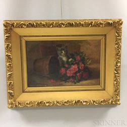 John Spencer (Rhode Island, 1861-1919)       Portrait of a Cat and Flowers.