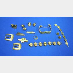 Fourteen Pieces of Mexican Silver and Abalone or Turquoise Jewelry