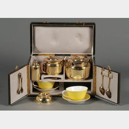 French Morocco Cased Traveling Tete a Tete Tea Service