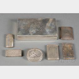 Seven Silver Boxes/Cases