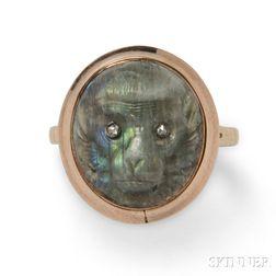 Antique Labradorite Cameo Ring