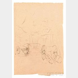 Raoul Dufy (French, 1877-1953)    Paysage à la Charette