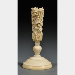 Carved Ivory Bouquet Stand