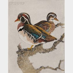 Benson Bond Moore (American, 1882-1974)      Five Ornithological Subjects: Ring-necked Pheasant